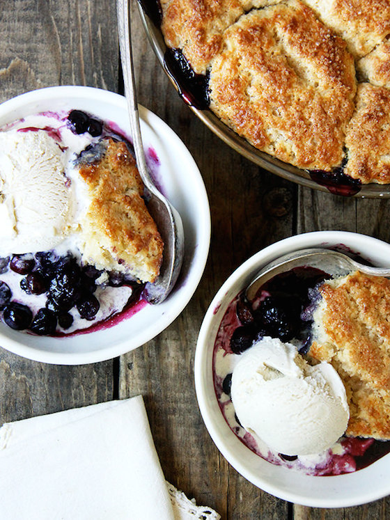 Blueberry Cobbler from Alexandra Cooks