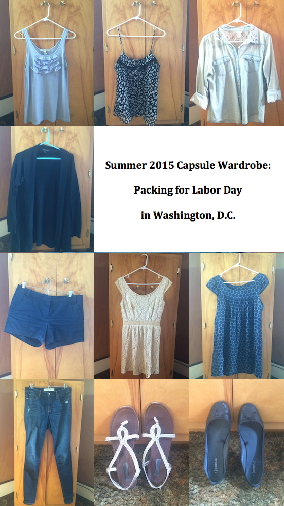 Summer 2015 Capsule: Packing for Labor Day | Glitter & Grace Blog #capsule #minimalism #capsulewardrobe #packinglist