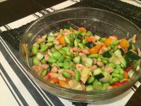 Edamame & White Bean Salad + recipe | Glitter & Grace Blog