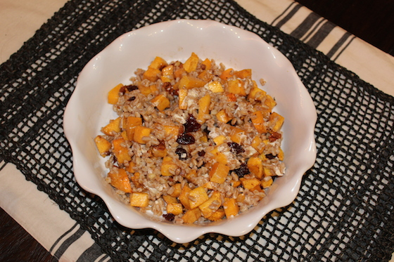 Butternut Squash & Farro Salad + recipe | Glitter & Grace Blog #fallrecipe