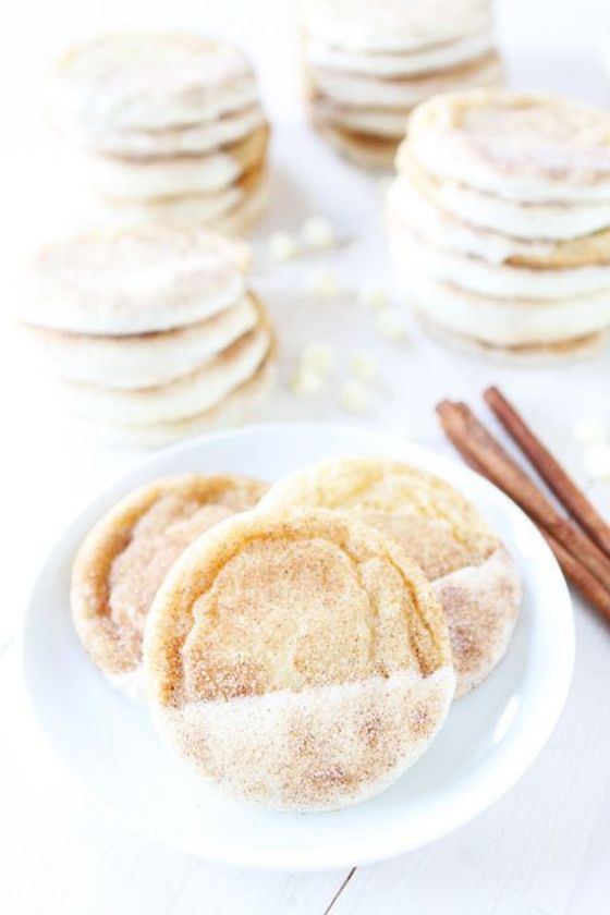White Chocolate Dipped Snickerdoodles from Two Peas and Their Pod