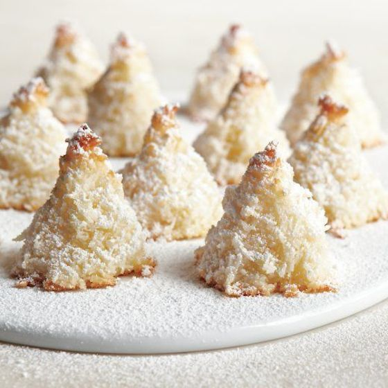 Sugar-Dusted Macaroon Trees from Martha Stewart