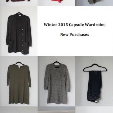 Winter 2015 Capsule Wardrobe: New Purchases | Glitter & Grace Blog #capsule #minimalism #capsulewardrobe