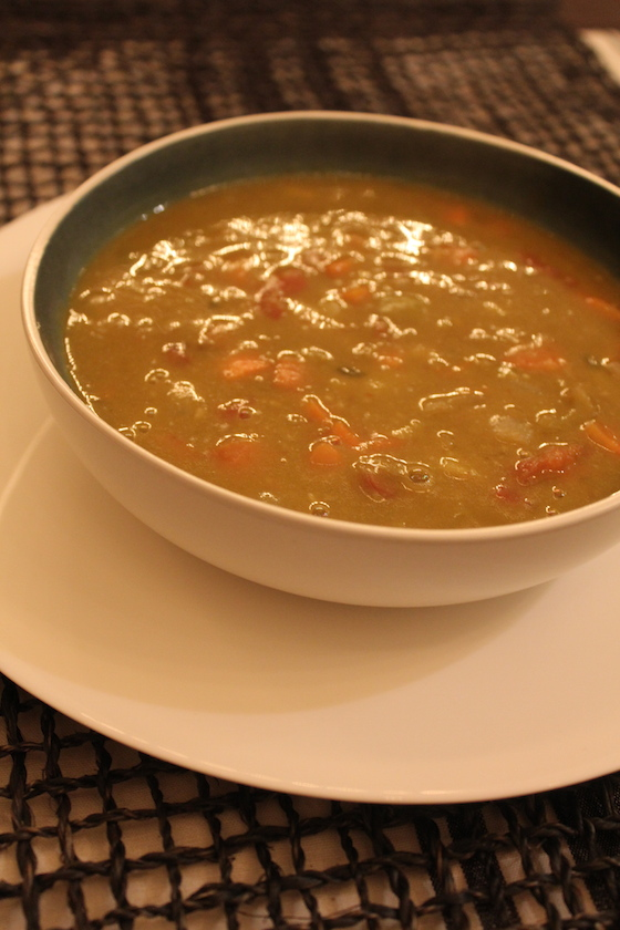 Split Pea Soup + recipe | Glitter & Grace Blog #winterrecipe