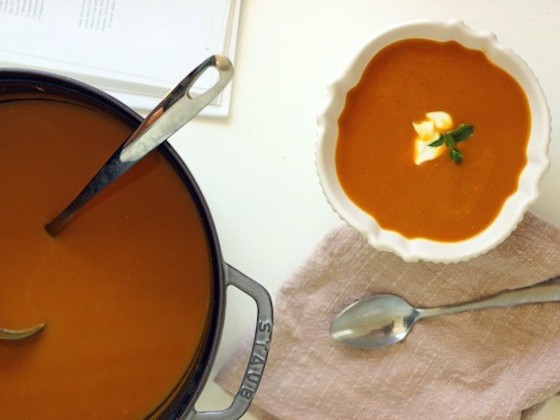 Curried Butternut Squash Soup from According to Elle | Glitter & Grace Blog