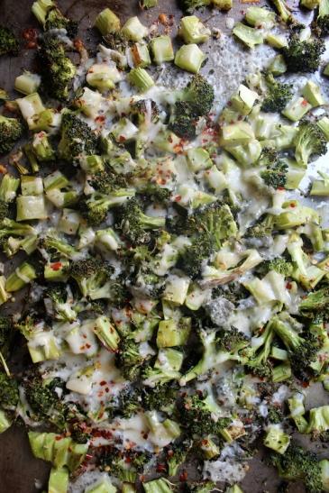 Cheesy Roasted Broccoli + recipe | Glitter & Grace Blog #broccoli