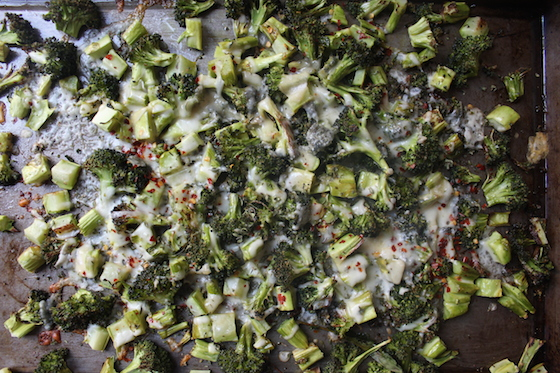 Cheesy Roasted Broccoli + recipe | Glitter & Grace Blog #broccoli