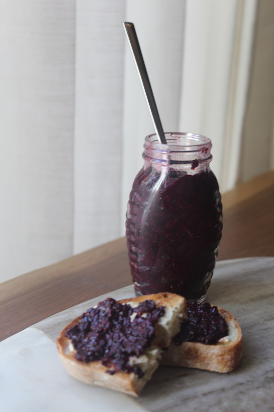 Chia Seed Jam + recipe | Glitter & Grace Blog #chiaseeds #superfood #homemadejam