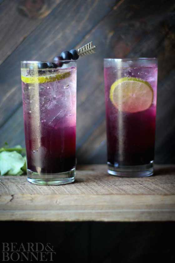 Blueberry Lavender Fizz from Beard & Bonnet