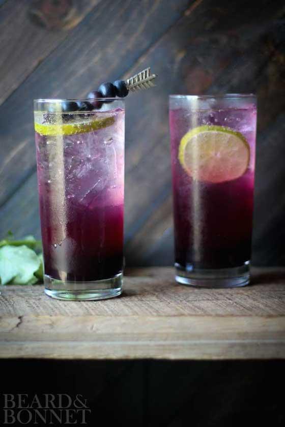 Blueberry Lavender Fizz from Beard & Bonnet