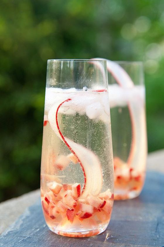 Rhubarb Prosecco Sparkler from Annie's Eats