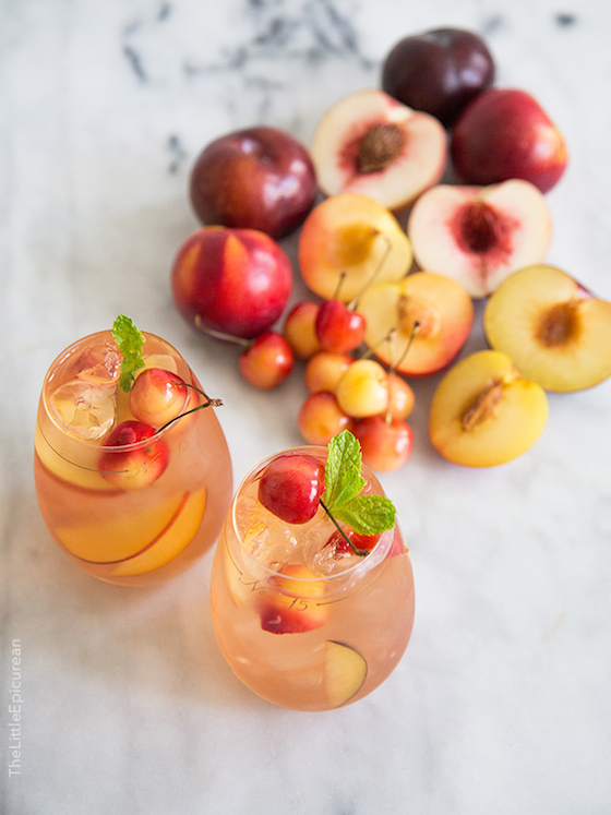 Stone Fruit Sangria from The Little Epicurean