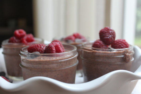 Chocolate Raspberry Chia Seed Pudding + recipe | Glitter & Grace Blog #chocolate #raspberry #chia #vegan