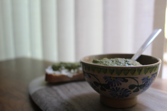 Mint Parsley Pesto + recipe | Glitter & Grace Blog #summerrecipe #mint #parsley #italian