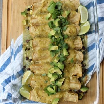 Summer Vegetable Enchiladas + recipe | Glitter & Grace Blog #summerrecipe #enchiladas #mexican