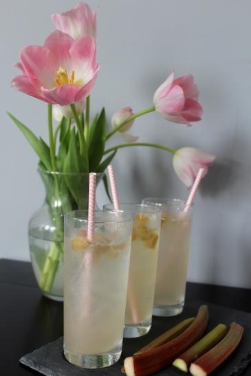 Rhubarb Lemon Spritzer + recipe | Glitter & Grace Blog #springrecipe #rhubarb #lemon #mocktail #picnicrecipe