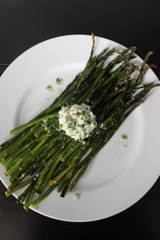 Roasted Asparagus with Herb Butter + recipe | Glitter & Grace Blog #springrecipe #asparagus
